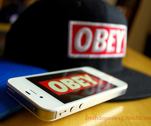 obey and iphone image