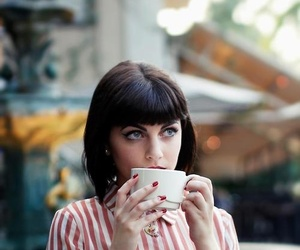 coffe, girl, and photo image