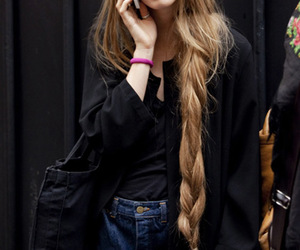 hair, long hair, and model image