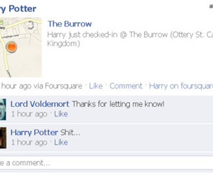 funny, facebook, and harry potter image