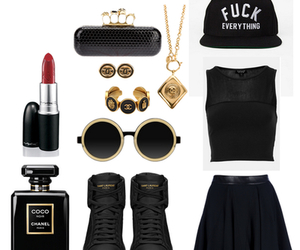 black, clothes, and clutch image
