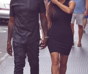 couple, kim kardashian, and kanye west image