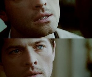 blue eyes, supernatural, and castiel image