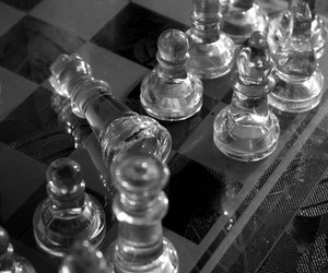 blackandwhite, chess, and photography image