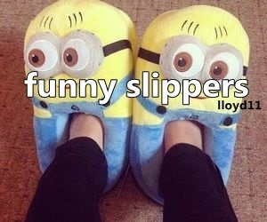 funny, it, and slippers image