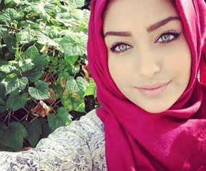 hijab, eyes, and muslim image