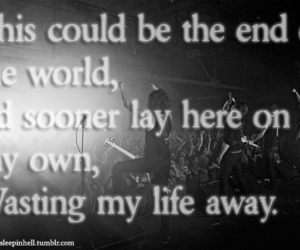 end of the world, asking alexandria, and reckless and relentelss image