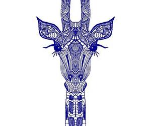 giraffe, blue, and art image