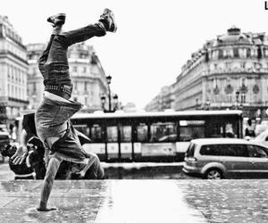 black and grey, dance, and boy image