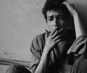 bob dylan, cigarette, and smoking image