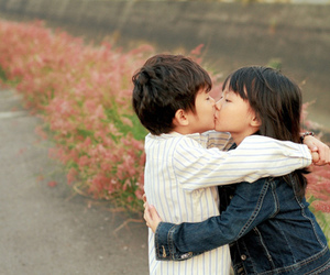 kiss, cute, and love image