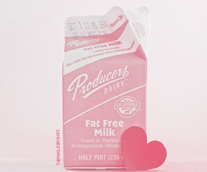 pink, milk, and cute image