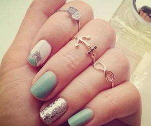nails, rings, and infinity image