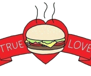 food, love, and burger image