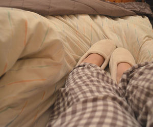 bed, cosy, and home image