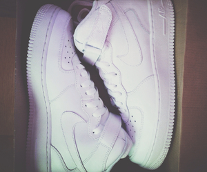 nike, white, and force image