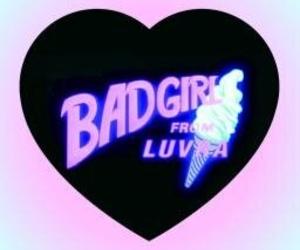 heart, pink, and bad girl image