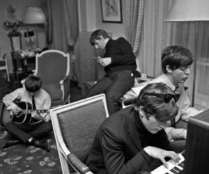 the beatles and hard at work image