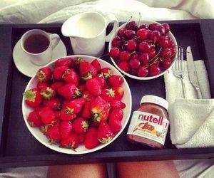 nutella, strawberry's, and cherry's image