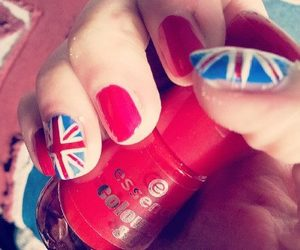 london, nails, and union jack image