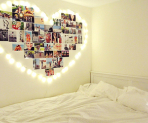 heart, room, and light image