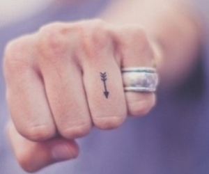 tattoo, arrow, and hand image