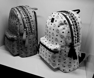 bag, black and white, and fashion image