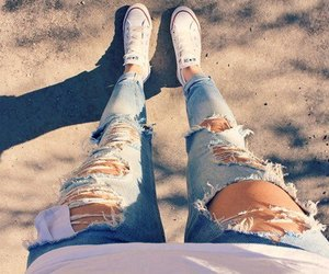 jeans, converse, and fashion image