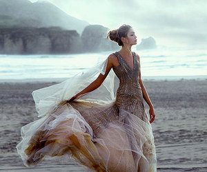 dress, beach, and model image