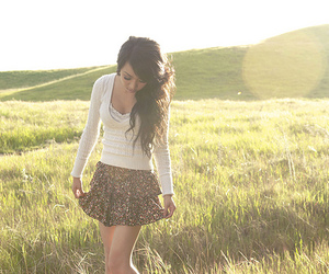 girl, fashion, and field image