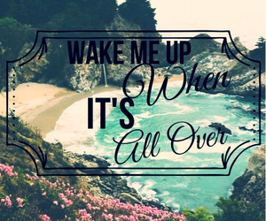 wake me up, over, and beach image