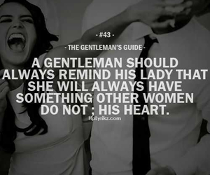 love, gentleman, and quotes image