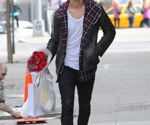 austin butler, boy, and flowers image