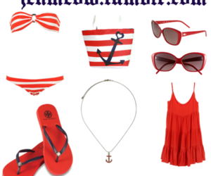 anchor, Polyvore, and stripes image