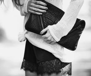 fashion, black and white, and bag image