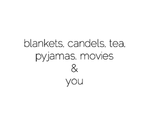blankets, candles, and movies image