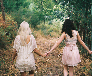forest, cute, and holding hands image