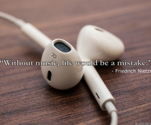 headphones, guote, and musicquote image