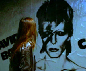 david bowie, Christiane F, and movie image
