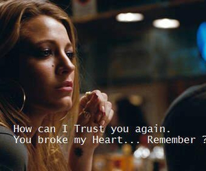 quote, gossip girl, and trust image