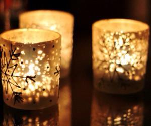candle, light, and christmas image