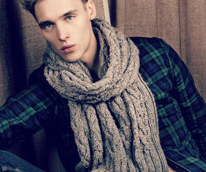boy, jeans, and scarf image