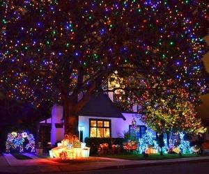christmas, christmas lights, and holiday image