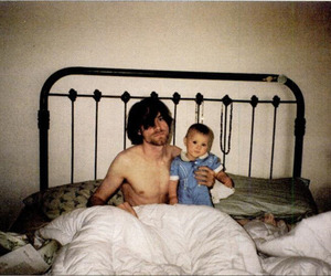 baby, nirvana, and bed image