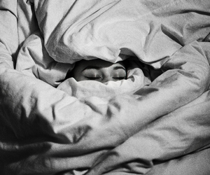 alone, tired, and blankets image