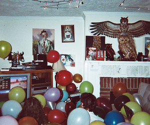balloons, colorful, and owl image