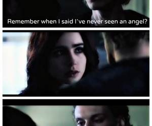 jace wayland, lily collins, and angel image