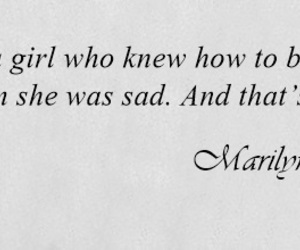 girl, Marilyn Monroe, and sad image