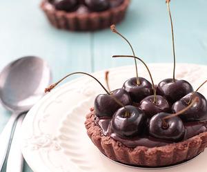 cherry, crust, and chocolate image