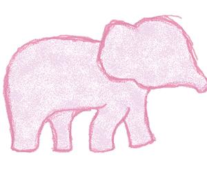 elephant, blue, and drawing image